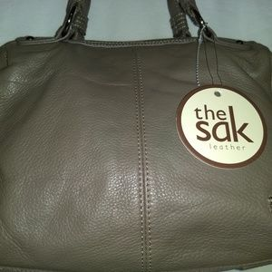 Bag Sak brown purse tote leather pocketbook Nwt